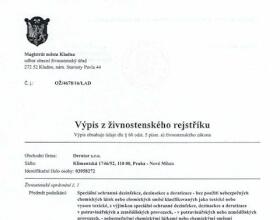 Derator s.r.o. - Výpis z ŽR